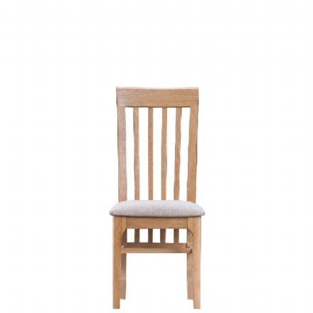 Newhaven Oak Slat Back Chair Fabric Seat